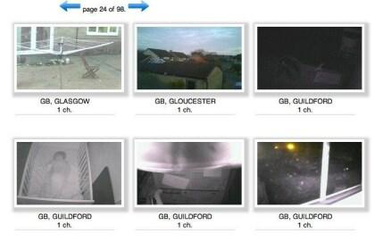 Geknackte Webcams