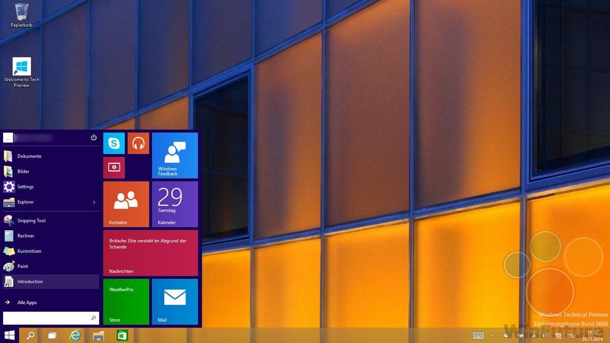 Windows 10: Geleakter Build 9888 wird bei Upgrades nicht geblockt