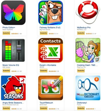 Amazon App-Aktion