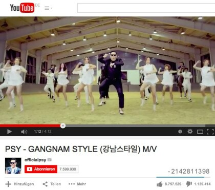 Gangnam Style auf YouTube
