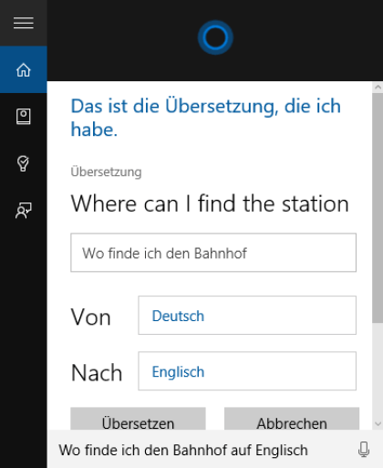 Microsoft Cortana deutsch