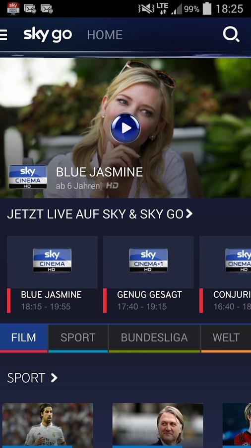 Sky Go Buchen