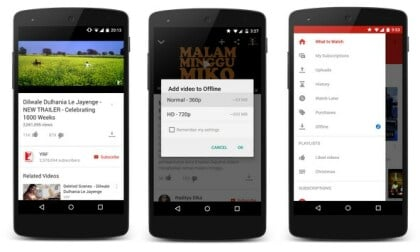YouTube-App mit Offline-Feature