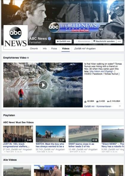 Facebooks Videokanal