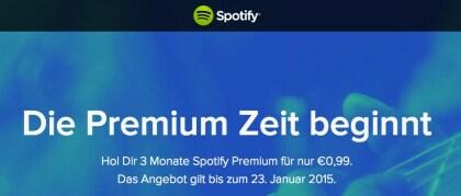 """Spotify-Aktion """"Premium Feiertage"""""""