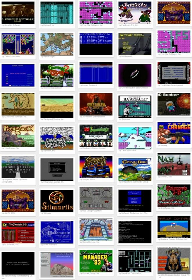 DOS-Spiele vom Internet Archive