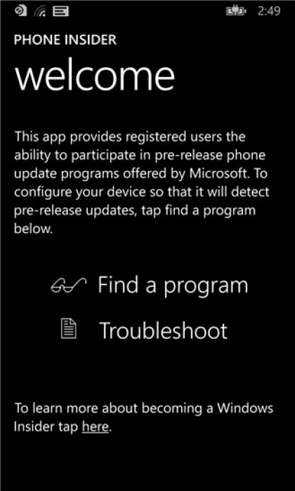 Phone Insider-App für Windows Phone