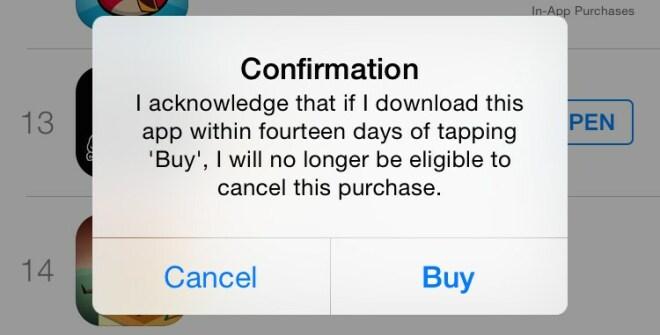 Apple-Warnung bei häufiger App-Rückgabe