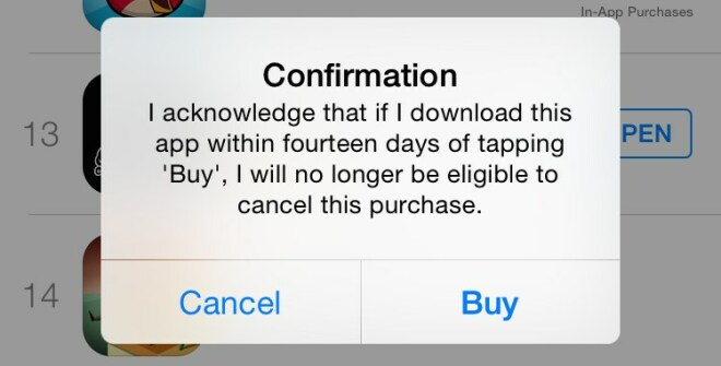 Apple-Warnung bei h�ufiger App-R�ckgabe
