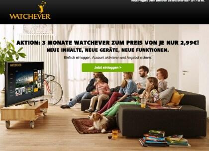 Watchever Aktion (Januar 2015)