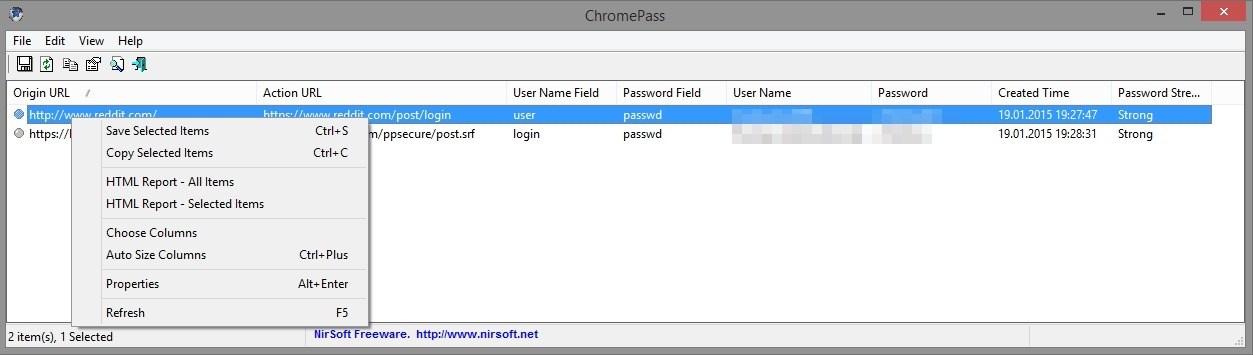 Passwort Chrome Auslesen