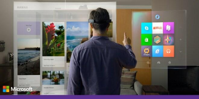 Windows 10: Windows Holographic & VR-Brille HoloLens vorgestellt