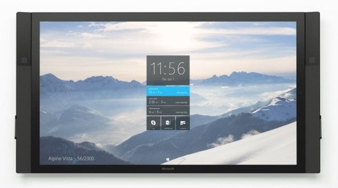 Surface Hub: Microsoft zeigt 84-Zoll-Tablet mit Whiteboard-Funktion