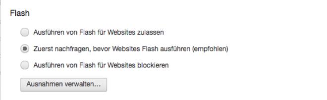 Flash deaktivieren