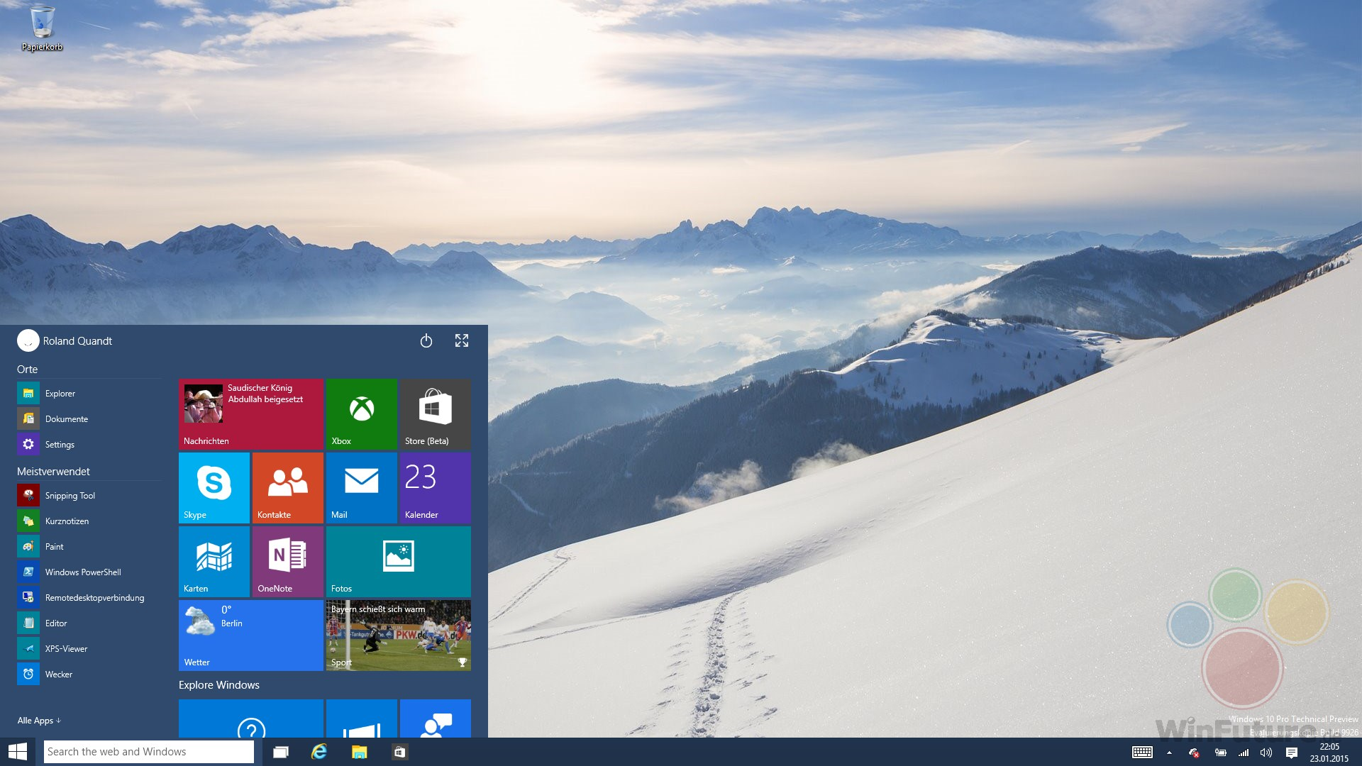 Windows 10: Neue Desktop-Preview wegen Phone-Version später