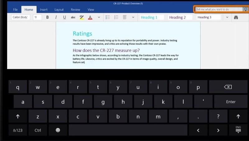 Microsoft zeigt die neuen Office Touch-Apps für Windows 10 im Video