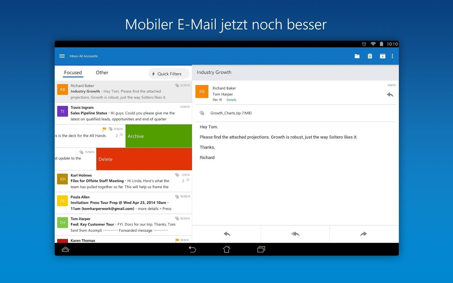 Microsoft Outlook-App für Android (APK) Download