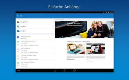 Outlook f�r iOS und Android