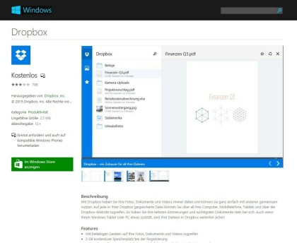 Neuer Windows Store im Web