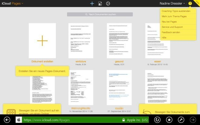 iWork for iCloud Windows
