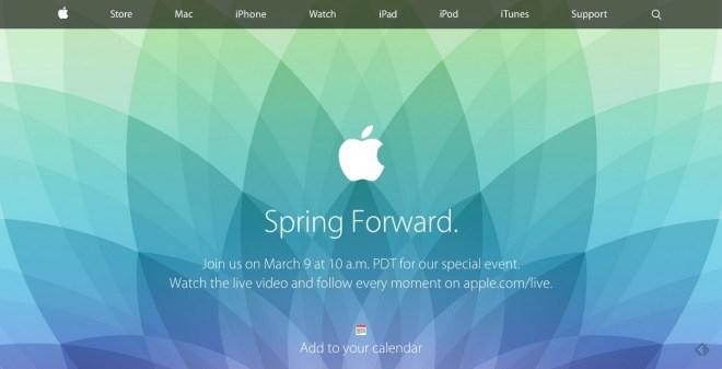 Apple Event am 9. März