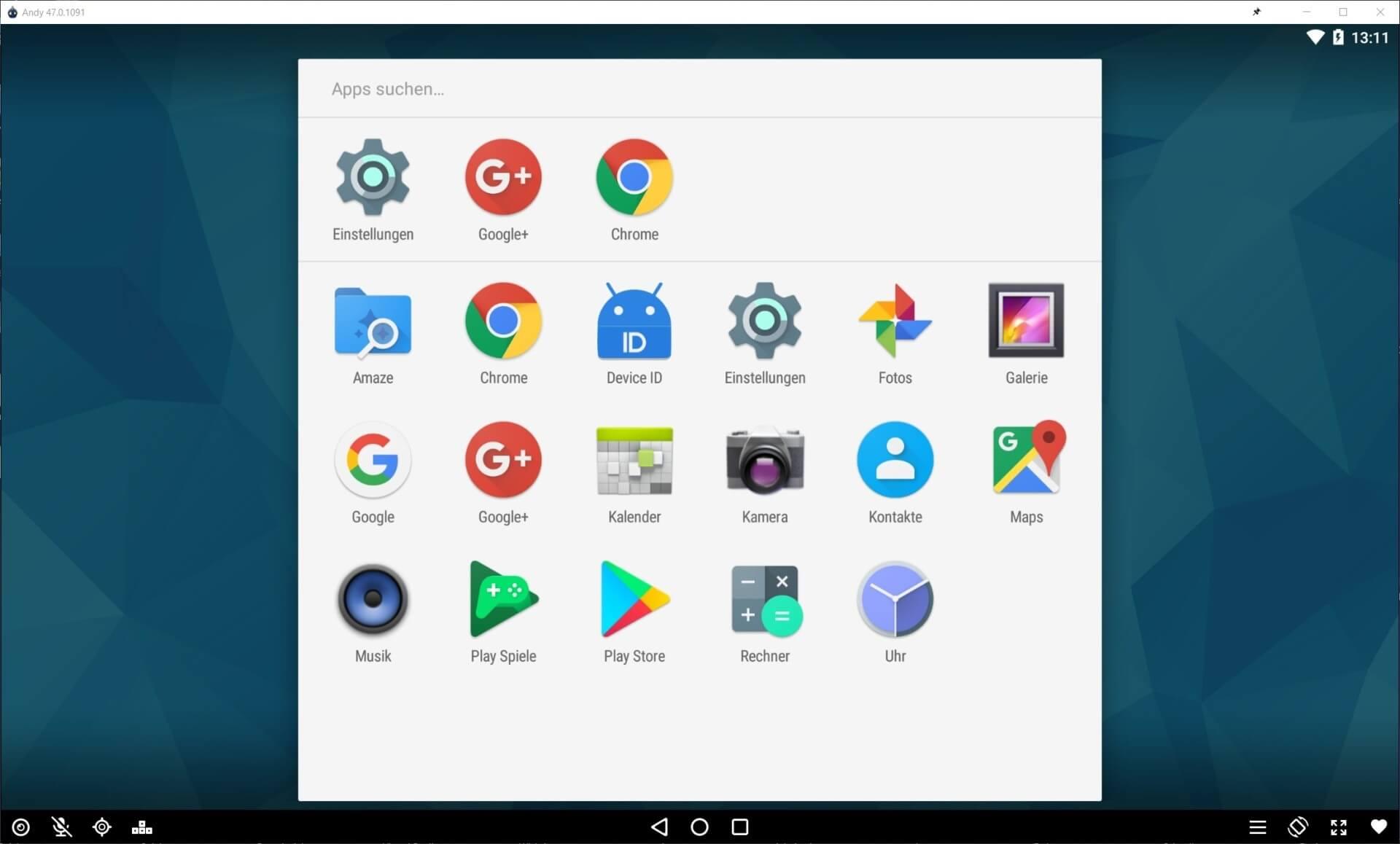 Andy - Kostenloser Android-Emulator für Windows Download