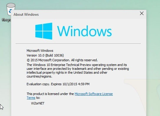 Windows 10 Build 10036 wird nicht als Technical Preview kommen