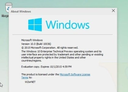 Windows 10 Build 10036