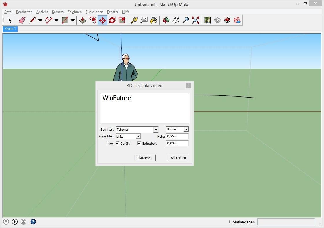 SketchUp Make - Kostenloses Programm für 3D-Modellierung Download