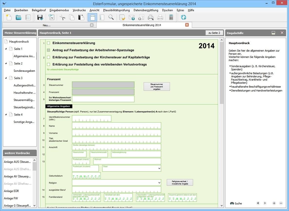 voller funktionsumfang - Anschreiben Steuererklarung