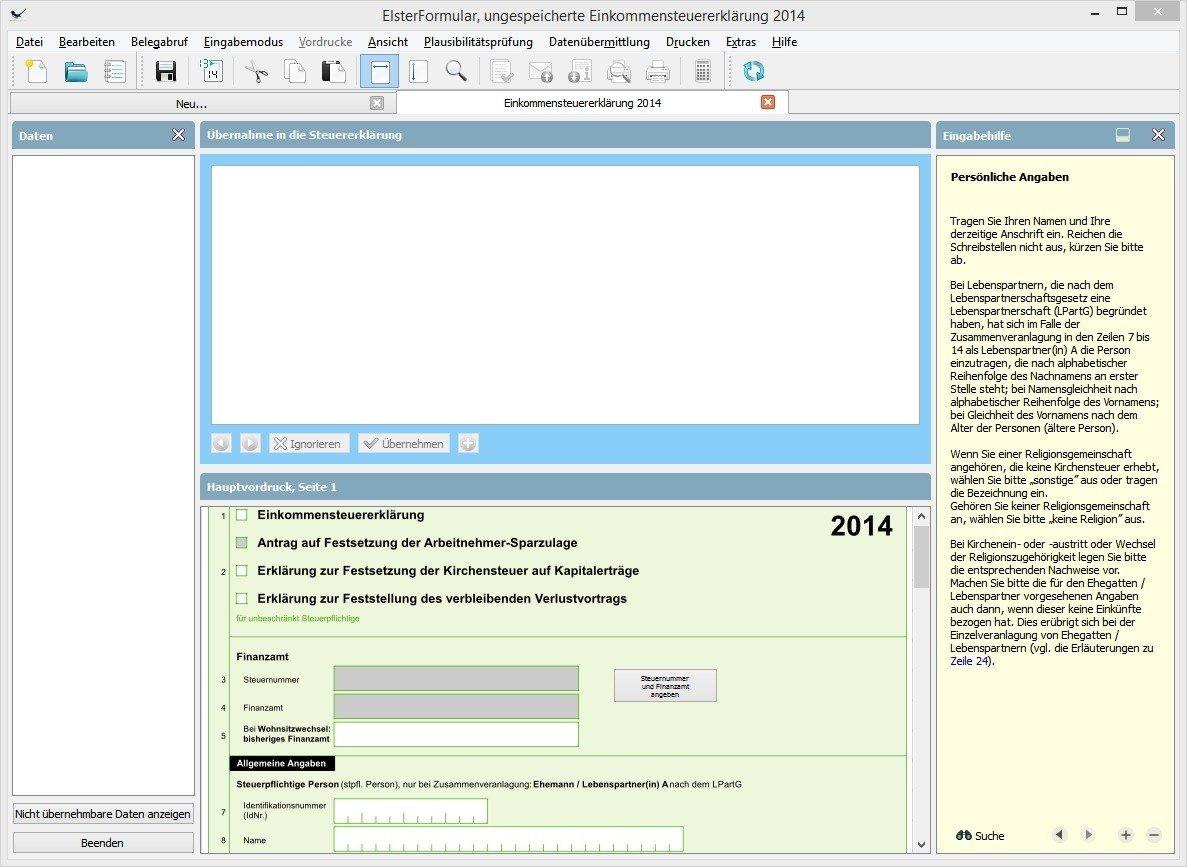 ElsterFormular   Programm zur elektronischen Steuererklärung Download