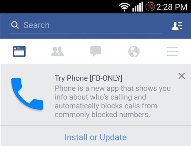 Facebook Telefon-App
