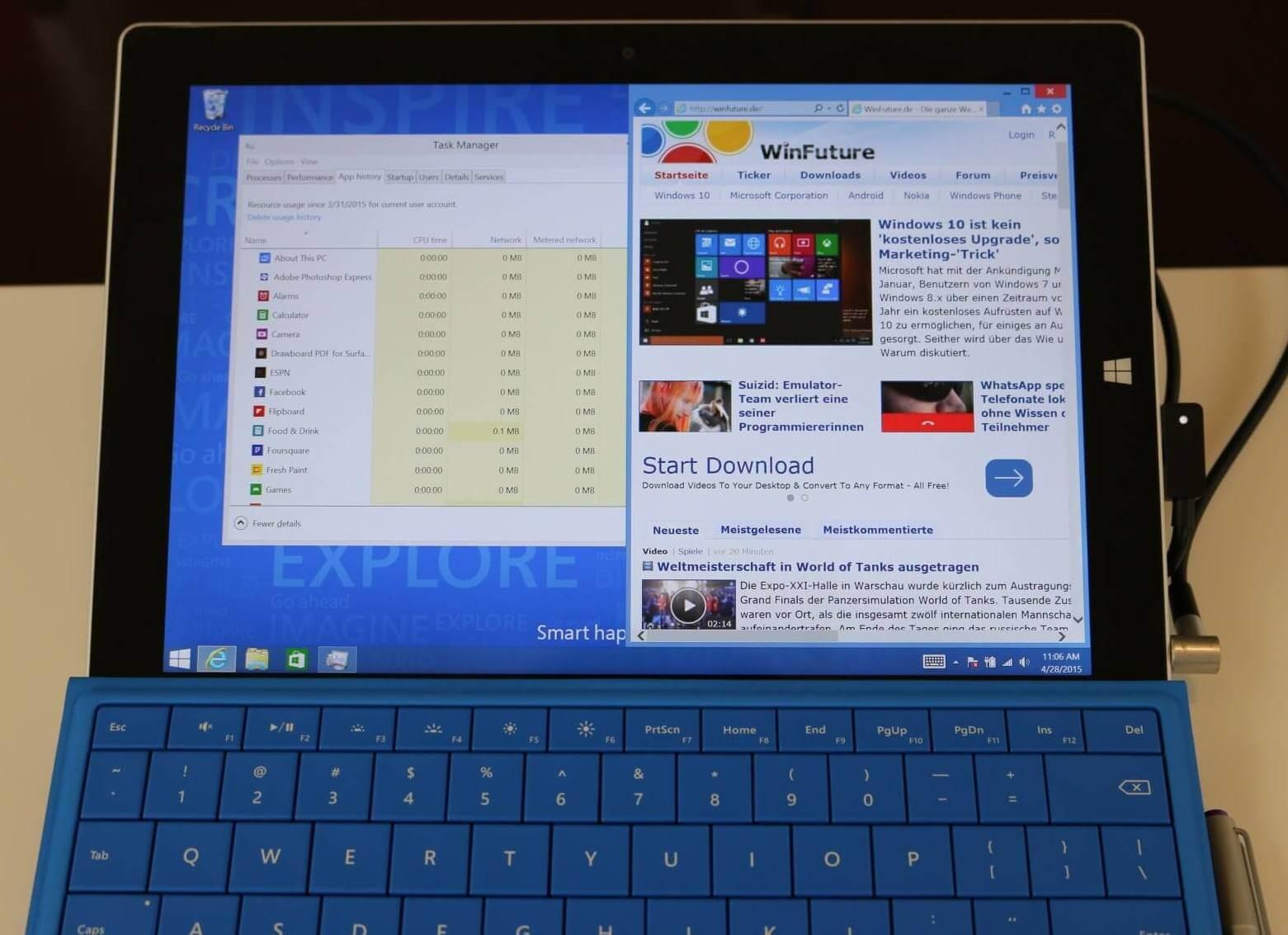 Microsoft warnt: Windows 10 nicht auf dem Surface 3 installieren
