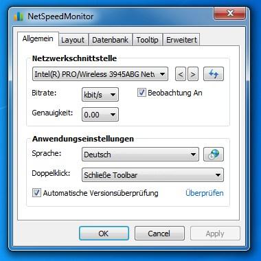 NetSpeedMonitor - Internetgeschwindigkeit in der Taskbar anzeigen