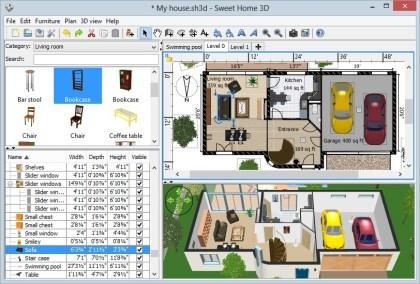 Wohnraumplaner  Sweet Home 3D - Kostenloser Wohnraumplaner Download