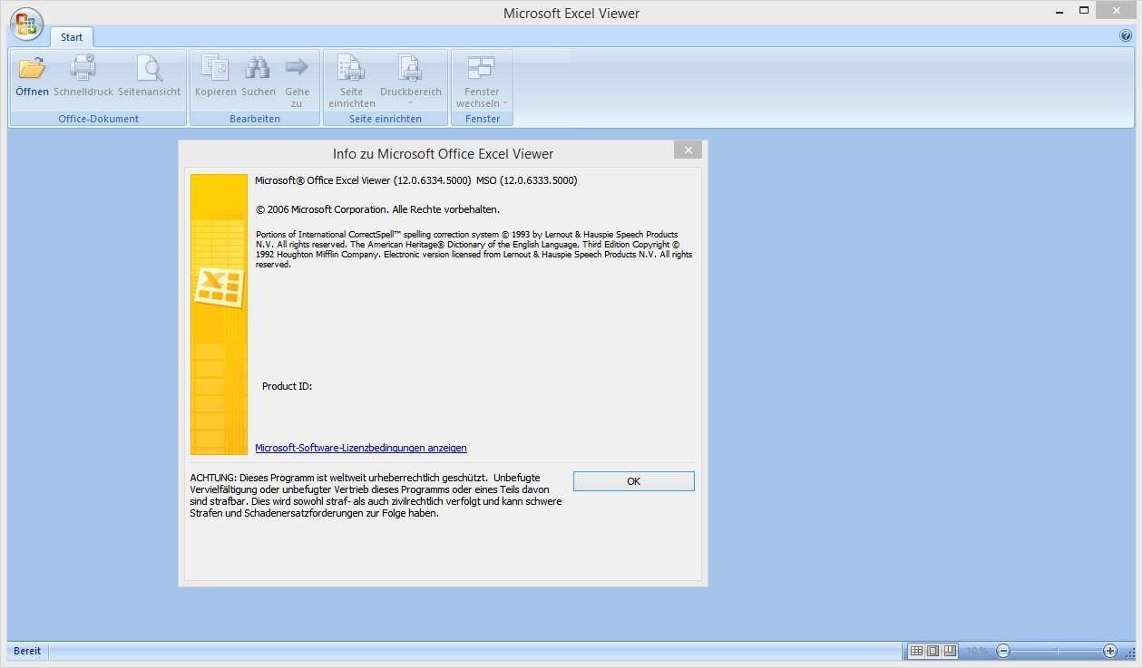 Excel Viewer - Excel-Dateien öffnen, anschauen und drucken Download