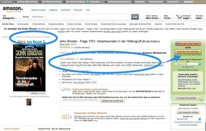 Audible bei Kindle Unlimited