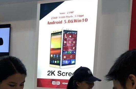 Smartphone mit Windows 10, Android und Intel-CPU angekündigt