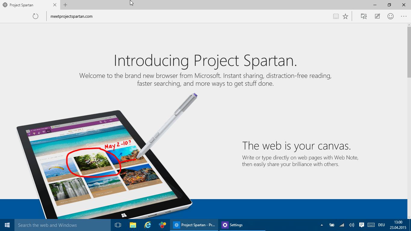 """Windows 10: Spartan wird wohl als """"Browser For Doing"""" beworben"""