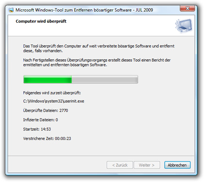 Windows-Tools zum Entfernen bösartiger Software