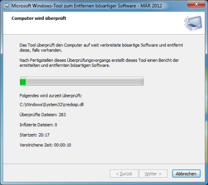 Windows-Tool zum Entfernen b�sartiger Software