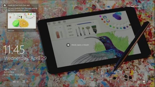 Windows 10: Werbung für neue Apps auf dem Lockscreen