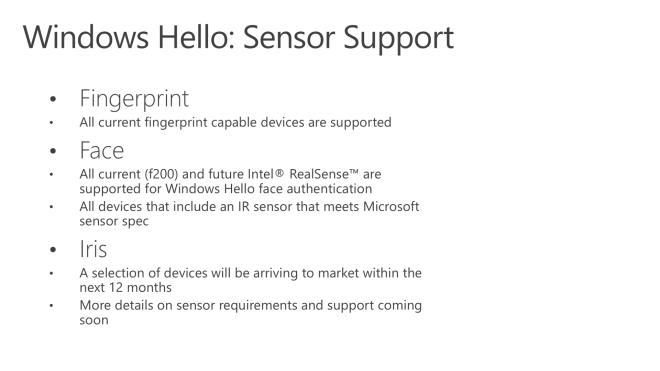 Windows 10: Weg frei für Anmeldung per Iris-Scanner & 3D-Kamera