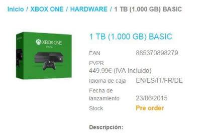 Xbox One: Angebot mit 1 TB Speicherplatz