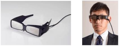 Prototyp der Fujitsu-Datenbrille