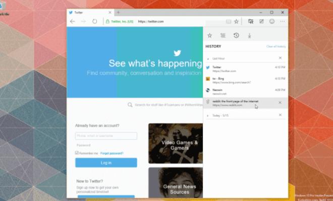 Windows 10 Build 10120: Edge-Browser hat neuen Verlauf erhalten
