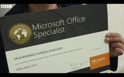 Sechsjähriger Microsoft Office Specialist
