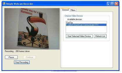 Simple Webcam Recorder