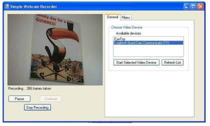 Simple Webcam Recorder