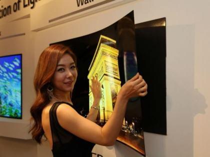 LG: OLED-Fernseher im Poster-Stil